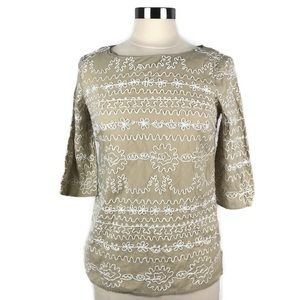Lilly Pulitzer Tan Embroidered Tunic Top. Size 2